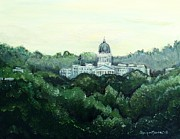 Dome Painting Originals - Maine State Capital by Shana Rowe
