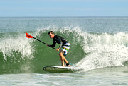 Stand Up Paddle Board Photos - Maine Waves by Casey Jacques