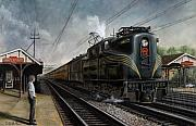 Transportation Painting Metal Prints - Mainline Memories Metal Print by David Mittner
