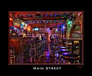 Bar Pyrography - Mainstreet Tavern by Jeff Hansen