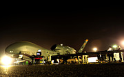 Global Hawk Prints - Maintenance Performed On A Rq-4 Global Print by Stocktrek Images