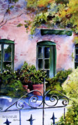 Villa Paintings - Maison Fleurie by Marti Green