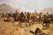 Cavalry Paintings - Maiwand by Richard Caton II Woodville