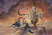Pirate Ship Paintings - Majestic Accord by Jeff Brimley