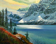 Majestic Bow River Print by David Lloyd Glover