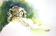 Cheetah Painting Prints - Majestic Cheetah Print by Liz Viztes