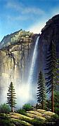 Yosemite Painting Framed Prints - Majestic Falls Framed Print by Frank Wilson