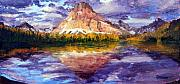 Glacier National Park Paintings - Majestic by Mary Giacomini