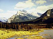 1983 Posters - Majestic Mount Rundle Poster by Will Borden