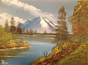 Majestic Mountain Lake Print by Tim Blankenship