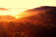 Appalachian Mountains Posters - Majestic Mountain Sunrise Poster by Thomas R Fletcher