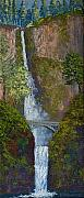 Waterscape Painting Metal Prints - Majestic Multnomah Metal Print by Ron Smothers