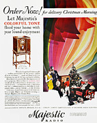 Listen Prints - Majestic Radio Ad, 1929 Print by Granger
