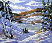 Country Painting Originals - Majestic Winter  by Richard T Pranke