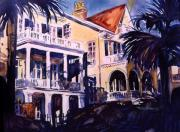 Charleston Houses Paintings - Majesty On The Battery by Trish McKinney