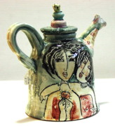 Majolica Tea Pot Print by Kathleen Raven