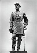 Reynolds Digital Art Posters - Major General John Reynolds Statue at Gettysburg Poster by Randy Steele