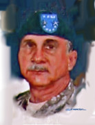 Major Framed Prints - Major General William H. Wade II Framed Print by Dean Gleisberg