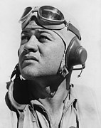 Ww2 Photo Posters - Major Gregory Pappy Boyington Poster by Everett