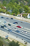 Tilt Shift Posters - Major Highway Tilt-Shift Poster by Eddy Joaquim