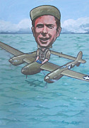 American Airmen Prints - Major Richard Bong Print by Murray McLeod