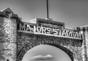 Baseball Stadiums Framed Prints - Majors Stadium II Framed Print by Lisa Moore