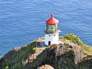 Faro Photos - Makapuu Lighthouse 1065 by Michael Peychich
