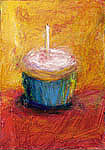 Cupcake Paintings - Make A Wish by Jeannine Luke
