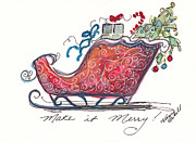 Christmas Notecard Originals - Make It Merry by Michele Hollister - for Nancy Asbell