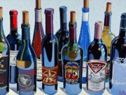 Oil Wine Paintings - Make Mine Virginia Wine Number Four by Christopher Mize