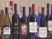 Impasto Oil Paintings - Make Mine Virginia Wine Number One by Christopher Mize