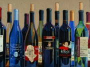 Red Wine Painting Posters - Make Mine Virginia Wine Number Two Poster by Christopher Mize