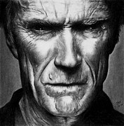 Clint Drawings - Make My Day by Rick Fortson