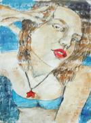 Young Girl Mixed Media Originals - Make The Difference. by Patricia Gomez