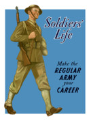 World War Ii Photo Posters - Make The Regular Army Your Career Poster by War Is Hell Store