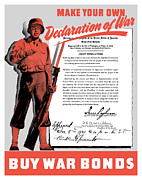 Wwii Propaganda Art - Make Your Own Declaration Of War by War Is Hell Store