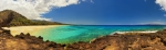 Makena Acrylic Prints - Makena Beach Panorama Acrylic Print by Quincy Dein - Printscapes
