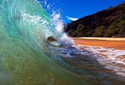 Beach Photograph Prints - Makena Wave Print by James Roemmling