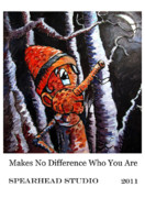 Push Pull Color Posters Digital Art Prints - MAKES NO DIFFERENCE WHO YOU ARE poster Print by Charlie Spear