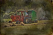 Bale Digital Art Metal Prints - Makin Hay While The Sun Shines Metal Print by The Stone Age