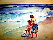 Jersey Shore Painting Originals - Making a Memory by Sandy Ryan