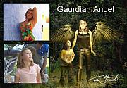 Bathing Digital Art - making Guardian Angel by Tom Straub