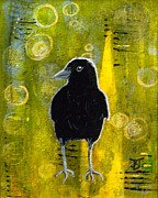 Baby Bird Mixed Media - Making Marks II by Kathleen A Johnson