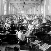 Factory Work Framed Prints - Making Money at the Bureau of Printing and Engraving - Washington DC - c 1916 Framed Print by International  Images