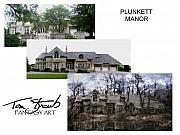 Mansion Digital Art - Making of Plunkett Manor by Tom Straub