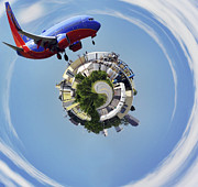 Airlines Digital Art - Making the World a Smaller Place by Jason Politte