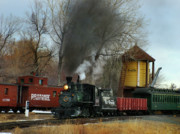 Colorado Railroad Museum Prints - Making Way Print by Ken Smith