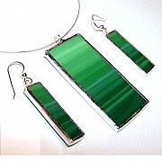Jewelry Sets Jewelry - Malachite from the Abacus collection by Kelly DuPrat