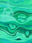 Meditation Paintings - Malachite Heart  Chakra by Jennifer Baird