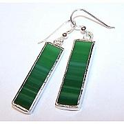 Malachite Jewelry - Malachite Rectangles by Kelly DuPrat